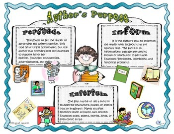 Author's Purpose Activity Packet