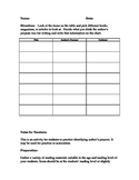 Author's Purpose Activity for ESOL Students