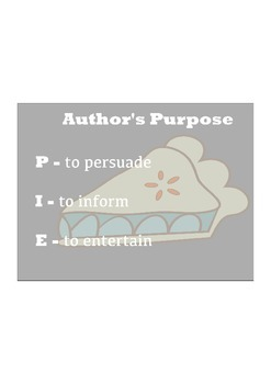 Authors Purpose Anchor Chart