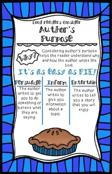 Author's Purpose Anchor Poster