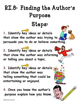 Author's Purpose Anchor and Process Charts