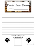 Author's Purpose Animal Cracker Writing Activity