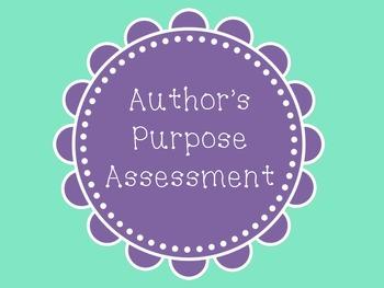 Author's Purpose Assessment