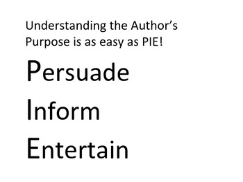 Author's Purpose - Black and White Version