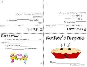 Author's Purpose Booklet