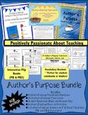 Author's Purpose Bundle: Vocabulary, Flip Books, Printable, & Task Cards