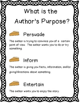 Author's Purpose Bundle (activities & a craft)
