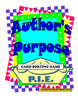 Author's Purpose Card Sort Activity