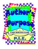 Author's Purpose Card Sort Activity