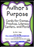 Author's Purpose Cards for Games, Practice, Literacy Centers, and More