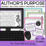 Author's Purpose Print and Digital Distance Learning for 4