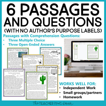 Author's Purpose: 3rd Grade | Author's Purpose Activities