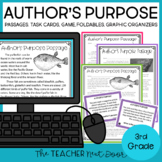 Author's Purpose Print and Digital Distance Learning for 3