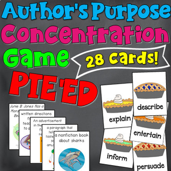 Author's Purpose Concentration Game (PIE'ED)
