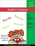 Author's Purpose Cut and Paste Activity