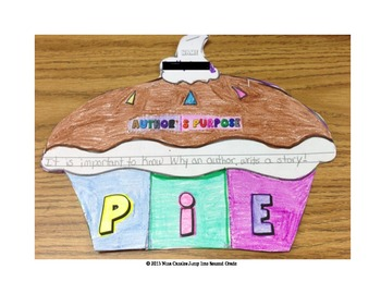 Author's Purpose- Cutie P.I.E. Foldable Book