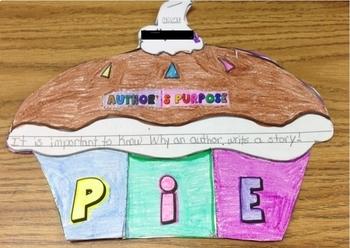 Author's Purpose- Cutie P.I.E. Foldable Book