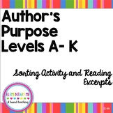 Authors Purpose DIFFERENTIATED LEVELS A-K Sorting Center /