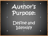 Author's Purpose PPT-Edgar Allan Poe