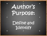 Author's Purpose PPT-Edgar Allan Poe