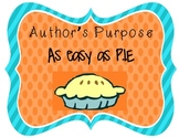 Author's Purpose Definition Posters