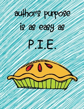 Author's Purpose:  Easy As P.I.E.
