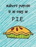 Author's Purpose:  Easy As P.I.E.