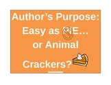 Author's Purpose: Easy as Animal Crackers!