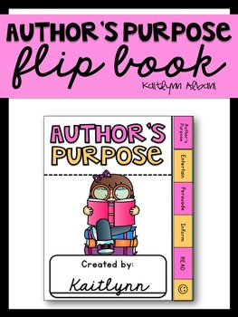 Author's Purpose Flip Book