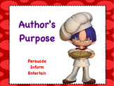 Author's Purpose: Flipchart and Worksheets