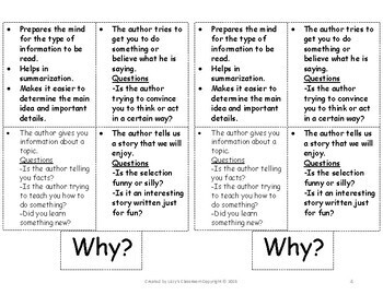 Author's Purpose Foldable