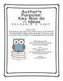 Author's Purpose Foldable and Sort FREEBIE