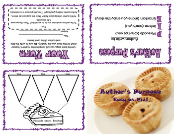 Author's Purpose Foldable with Graphic Organizer
