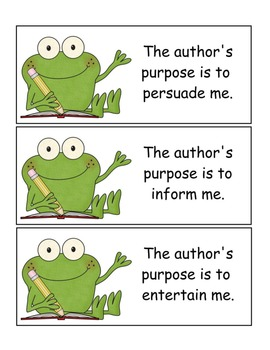Author's Purpose Frogs