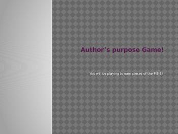 Author's Purpose Game-Piece of PIE-E