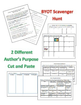Author's Purpose, Genre, and Informational Sources