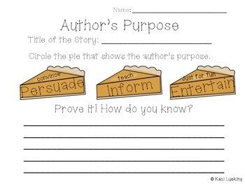 Author's Purpose Graphic Organizers