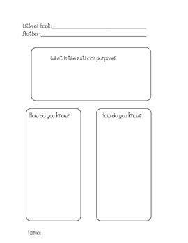 Author's Purpose Graphic Organizer Chart