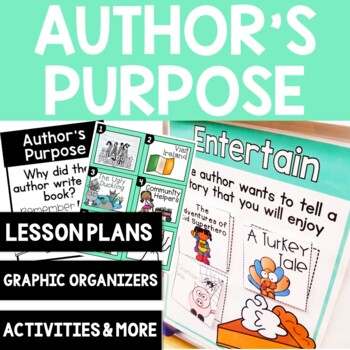 Comprehension Skill: Author's Purpose Graphic Organizers