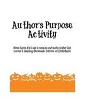 Author's Purpose Halloween Activity