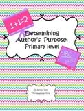 Author's Purpose Homework Center Sheet