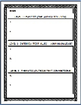 Author's Purpose, Inference Questions, Tone, Mood Theme Printables
