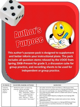 Author's Purpose Instructional Group Activities