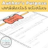Author's Purpose Notes & Worksheets