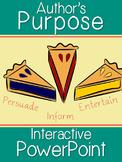 Author's Purpose Interactive PowerPoint (Persuade, Inform, Entertain)