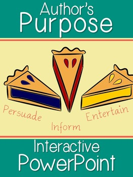 Author's Purpose Interactive PowerPoint (Persuade, Inform,