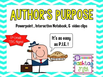 Author's Purpose Interactive notebook & powerpoint Notes: TEKS aligned