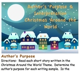 Author's Purpose, Interpretation and Comprehension 'Christmas Around the World'