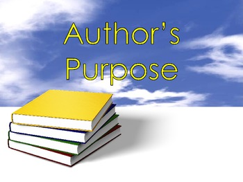Author's Purpose Introduction