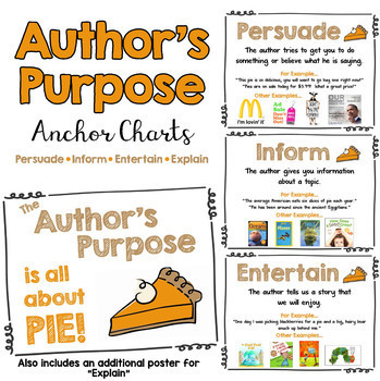 author 39 s purpose it 39 s all about pie anchor charts by cindy gilchrist. Black Bedroom Furniture Sets. Home Design Ideas